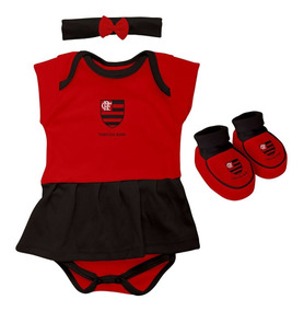 e4222a1dfebf45 Kit 3 Peças Torcida Baby Body Menina Flamengo - 033b