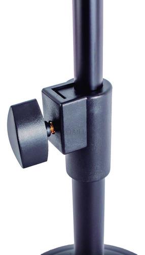kit 3 pedestal suporte microfone mesa studio rádio tripé