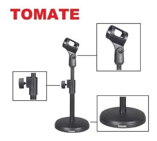 kit 3 pedestal suporte microfone mesa studio rádio tripé n f