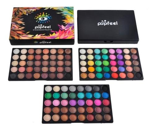 (kit 3 piezas) 120 colores paleta de sombras larga duración