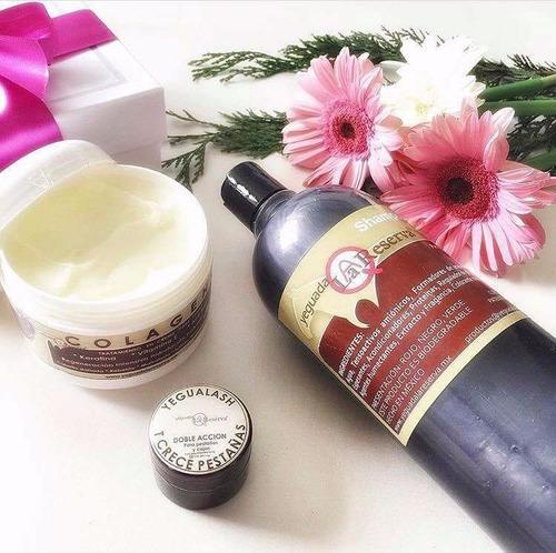 kit 3 piezas, shampoo, colageno g y yegualash y envio gratis