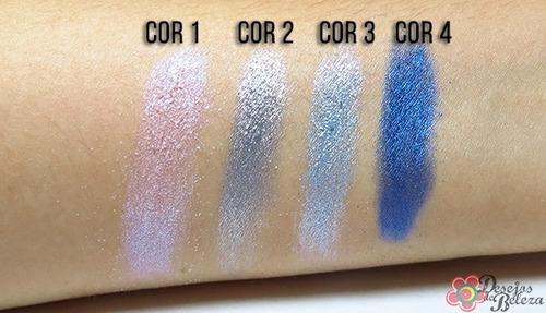 kit 3 pigmento vult gliter sombra cores