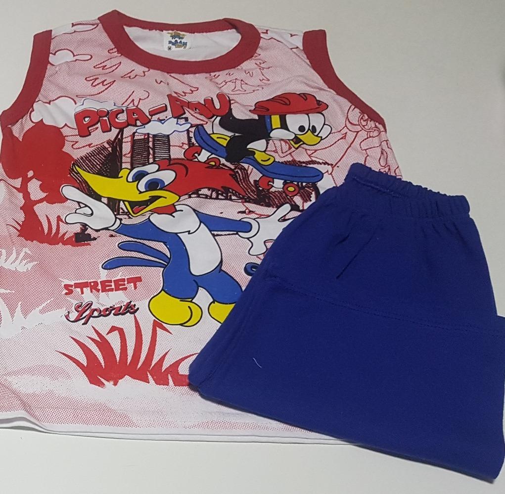 Kit 3 Pijamas Conjunto Verão Infantil Regata Menino Menina - R  80 ... 3702a3d530a