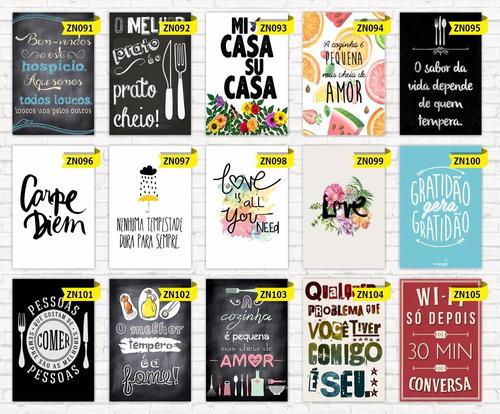 kit 3 placas decorativas mdf  20x30  frases  motivacionais
