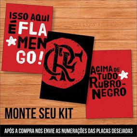 aff25c85f1007c Kit 3 Placas Decorativas Quadros Flamengo Pai Flamenguista