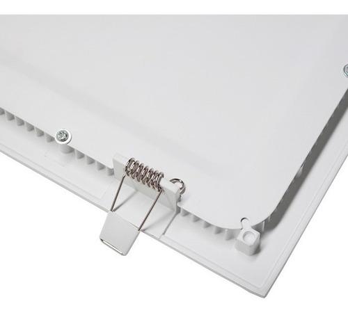 kit 3 plafon embutir quadrado led 25w painel bivolt 30x30