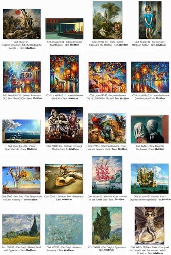 kit 3 posters obras de arte - enfeite para casa - a escolher