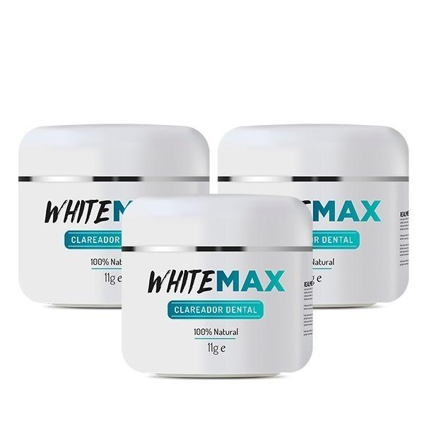 Kit 3 Potes Whitemax Clareador Dental 100 Natural R 69 90 Em