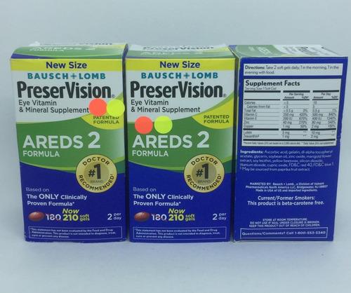 kit 3 preservision areds 2 eye vitamin supplement 210 caps