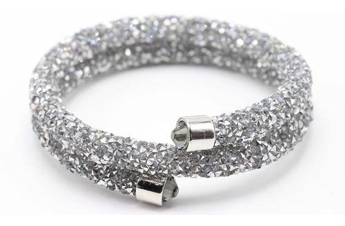 kit 3 pulseiras bracelete tipo swarovski crystaldust 2019