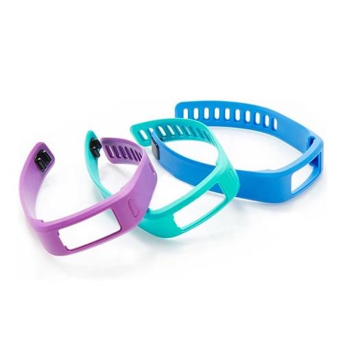 kit 3 pulseiras garmin vivofit 1 pequena azul verde roxo