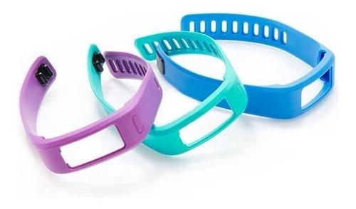 kit 3 pulseiras originais garmin vivofit 1 azul verde roxo