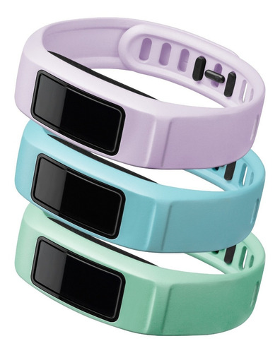 kit 3 pulseiras originais vivofit 2 grande verde azul rosa