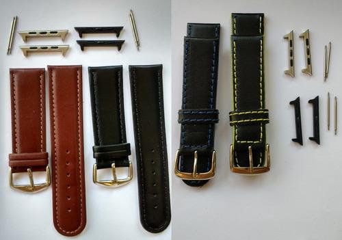kit 3 pulseiras p/ apple watch 1,2,3,4: inox + nike + couro
