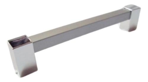 kit 3 puxador gaveta porta de armário btr 1/2' 320 mm prata