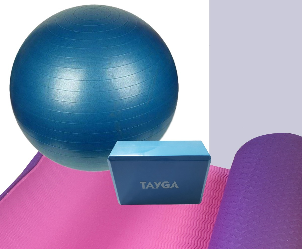 kit 3 pza tapete + pelota 65 cm + block para yoga gym envio. Cargando zoom. 4d37de7f8420