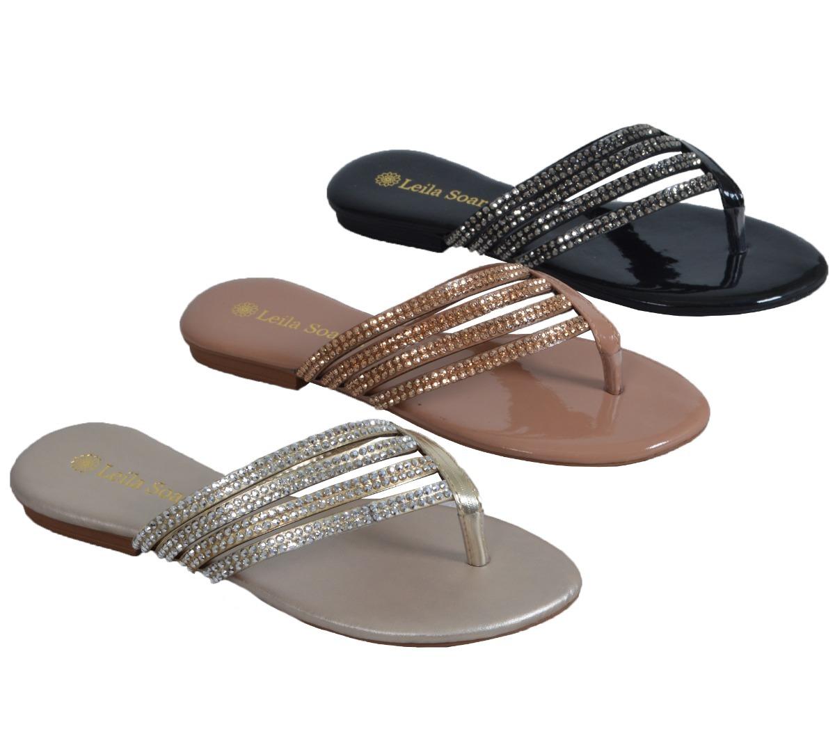 a8b3cdf17b kit 3 rasteirinha feminina strass sandália frete grátis 803. Carregando  zoom.