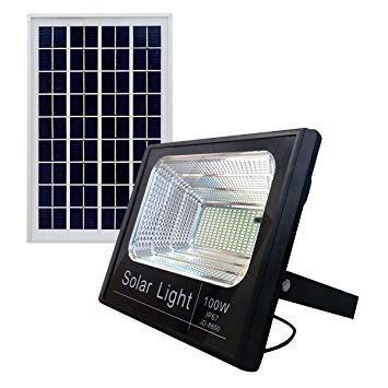kit 3 refletor holofote solar ultra led 100w real placa
