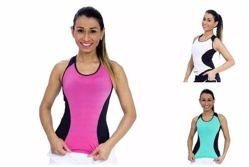 Kit 3 Regata Slim Nadador Feminina Academia Ginastica Oferta - R  84 ... c2daa7e967c