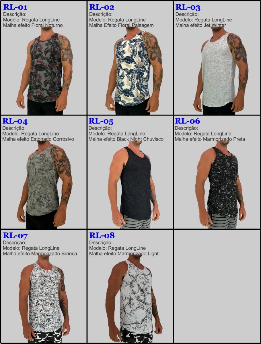 4498d4861 kit 3 regatas longline cavada camiseta floral camuflada fit. Carregando  zoom.