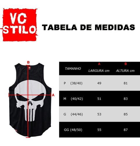 kit 3 regatas longline oversized - camiseta regata masculina