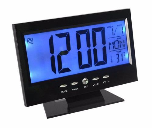 d22e489bc9d Kit 3 Relógio Digital Mesa Iluminação alarme