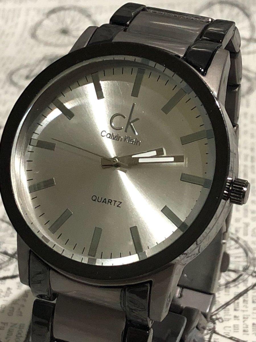 0bd1dd7cb75 kit 3 relógio masculino ck pulseira de aço promoção preto. Carregando zoom.