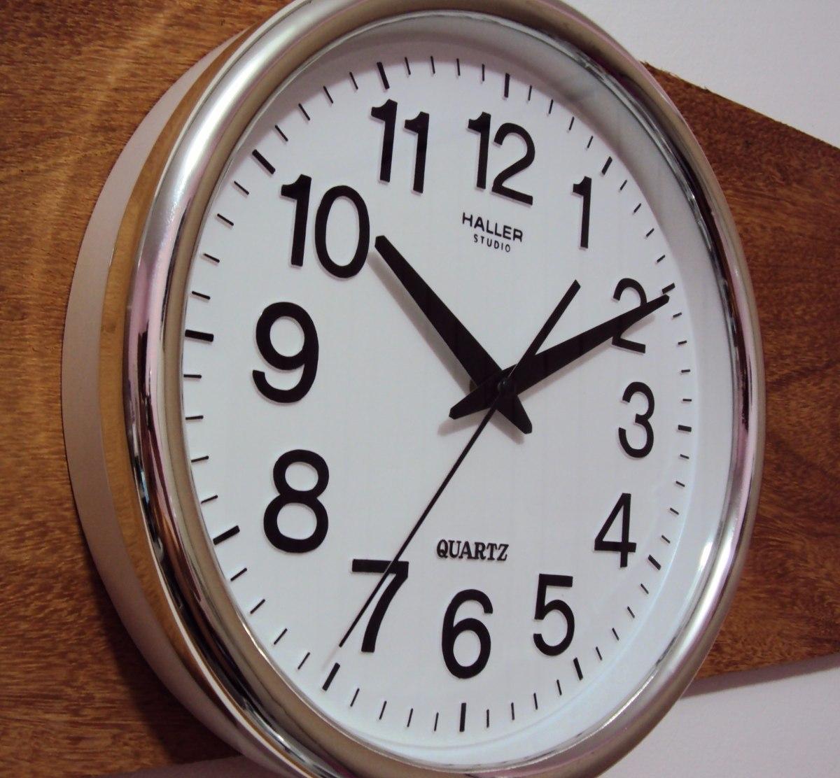 24a7731626f kit 3 relógio silencioso d fuso horário cromado 30 cm 120 cm. Carregando  zoom.