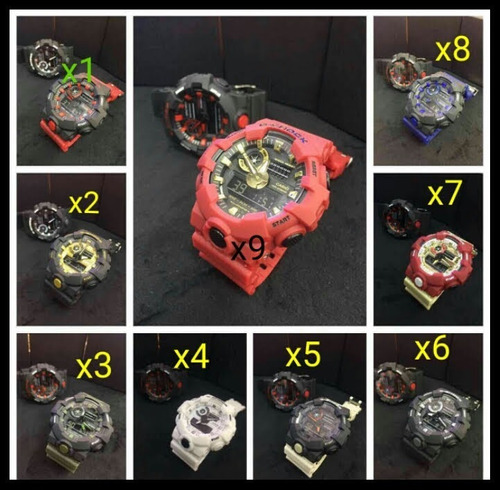 kit 3 relógios  analógico e digital mudmaster atacado