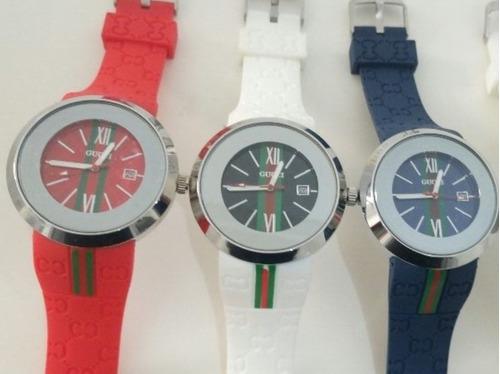 kit 3 relógios de pulso gucci unissex atacado (frete gratis)