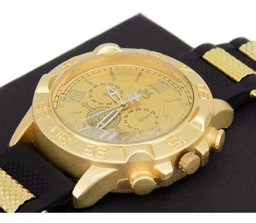 kit 3 relógios masculinos pulseira couro analógicos atacado