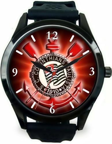 kit 3 relógios pulso esportivo corinthians barato revenda