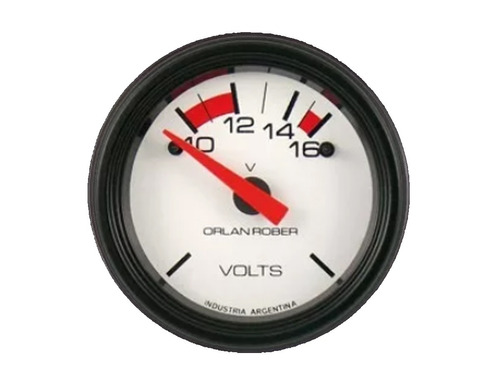 kit 3 relojes orlan rober aceite agua voltimetro blanca 52mm