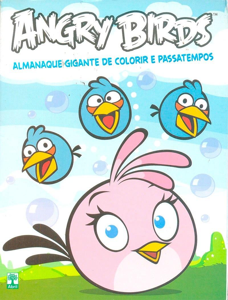 Kit 3 Revistas Angry Birds Desenhar Colorir Adesivos Novas R