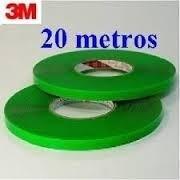 kit 3 rolos fita fina dupla face 5mm 20metros 3m vhb