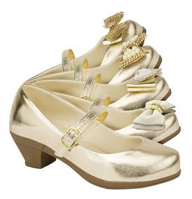 f097b75f18ffe9 Kit 3 Sandalia Boneca Feminina Infantil Rasteira Sapato Moda