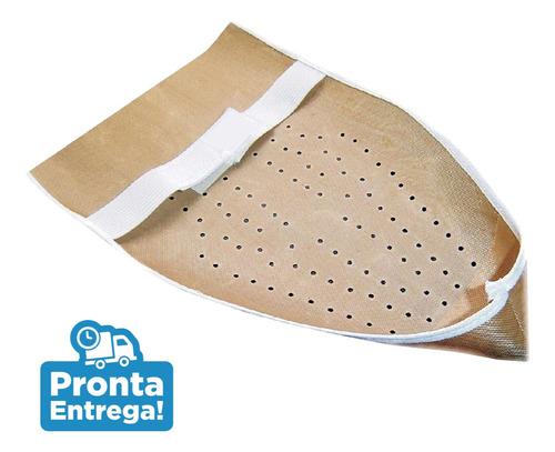 kit 3 sapatas anti-brilho para ferro de passar velcro fácil