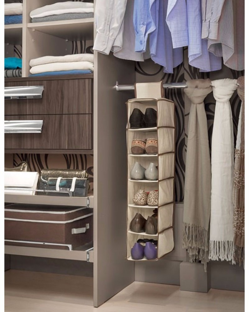 Kit 3 sapateiras cabide vertical flex vel organizador for Organizadores para closet