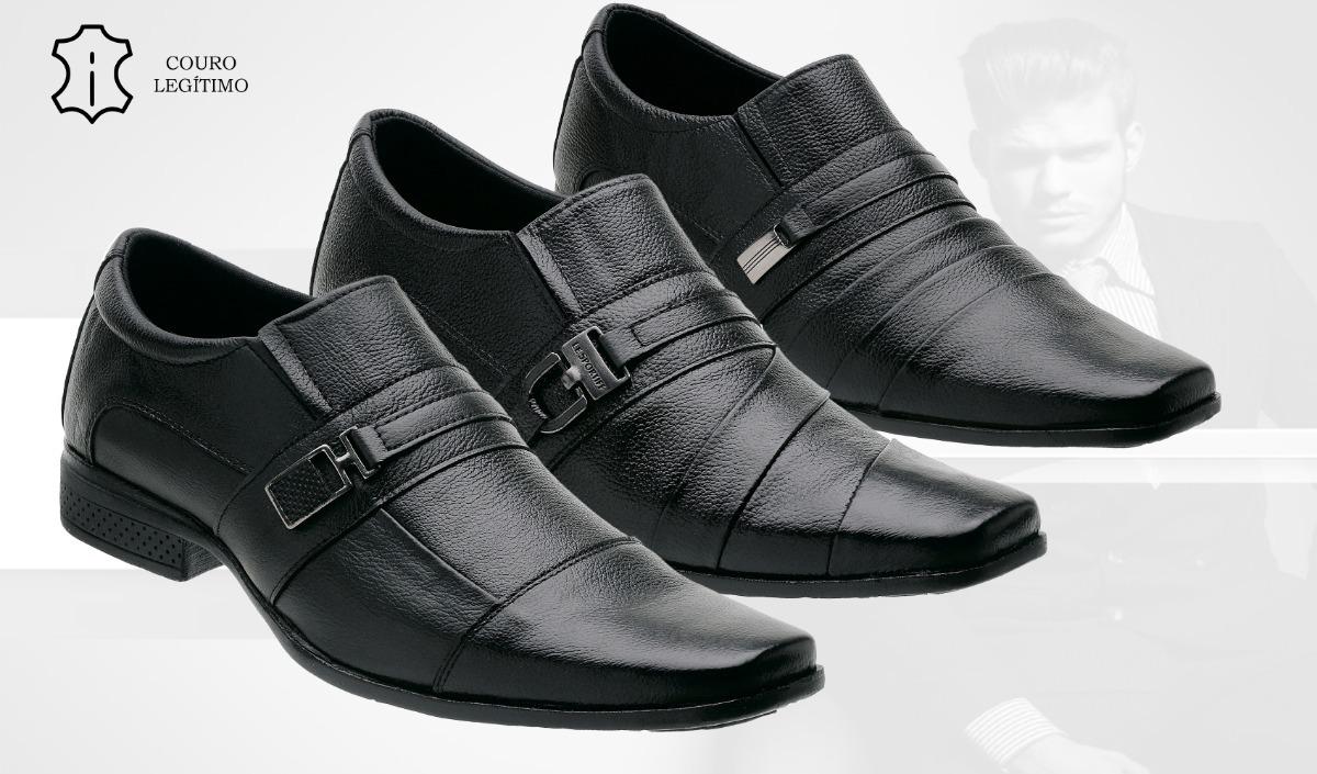 9071d08ae kit 3 sapatos social masculino em couro legítimo top couro. Carregando zoom.