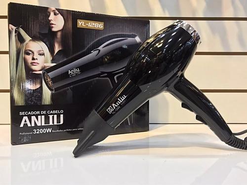 kit 3 secador de cabelo anliu super novo potente 3200w 110v