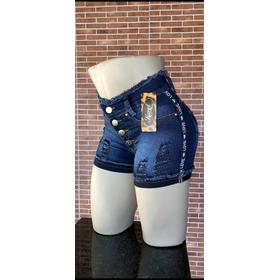 Kit 3 Short Jeans Levanta Bumbum Cós Alto Hot Pants 135