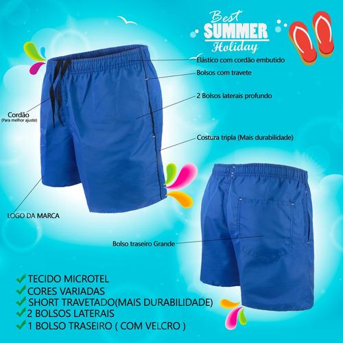 kit 3 shorts curto academia atividade fisica tactel fitness