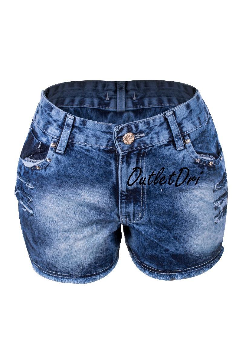 e21ec5ab7 Kit 3 Shorts Jeans Destroyed Rasgado Aplicação Lateral - R$ 119,70 ...