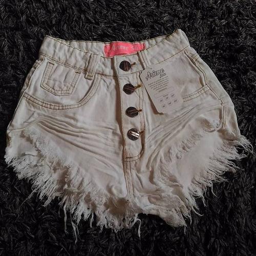 kit 3 shorts jeans feminino destroyed hot pant rasgado anita