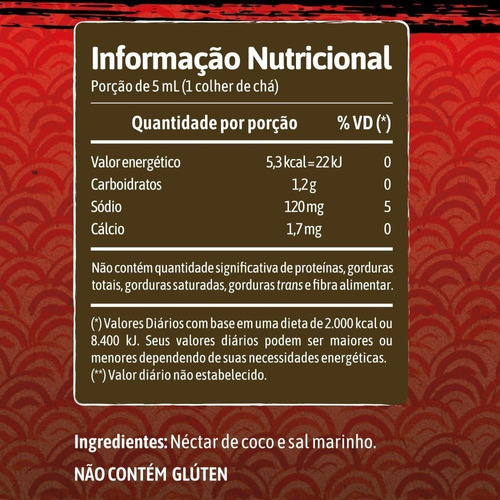kit 3 shoyu de coco vegano 25% menos sódio 250ml - qualicoco