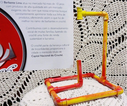 kit 3 suporte para barbantes bem fácil de montar