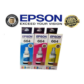Kit 3 Tintas Epson Original L355 L365 L375 L100 L210 L455