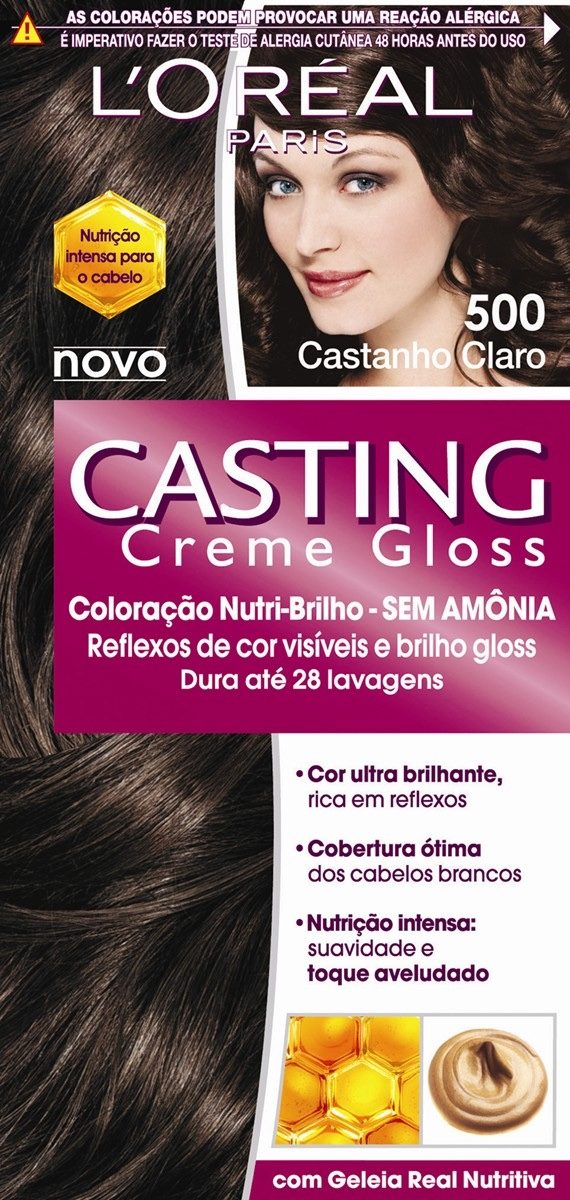 Kit 3 Tintura Casting Creme Gloss Castanho Claro 500 - R ...
