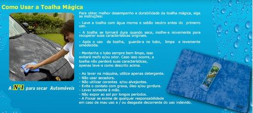 kit 3 toalha mágica fixxar original absorve água limpa seca