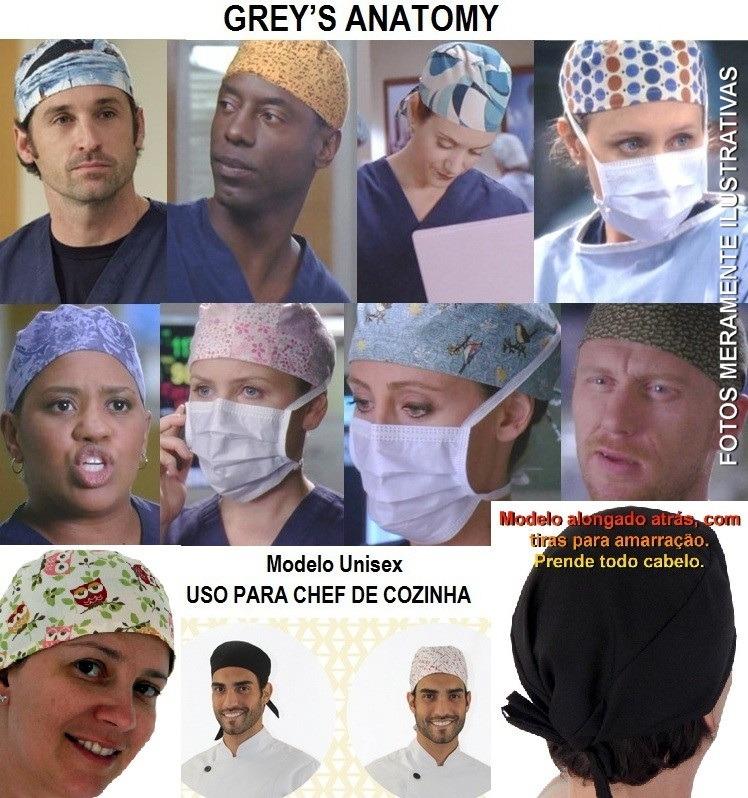 Kit 3 Touca Cirurgica Bandana Gorro Masculino Ou Feminina - R  25 05e6aaaebd8